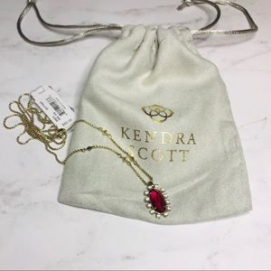 Kendra Scott Brett Clear Berry Necklace